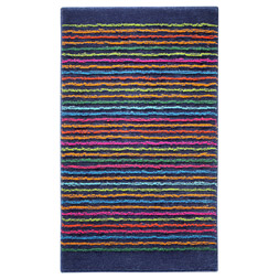 tapis de bain cool stripes bleu esprit home