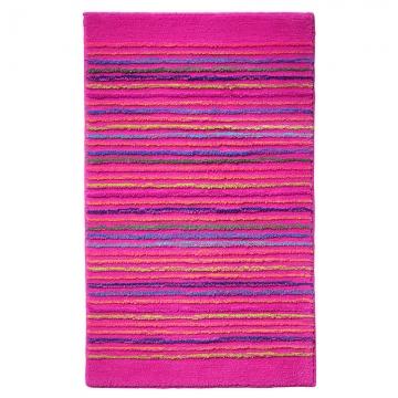 tapis de bain esprit home cool stripes rose
