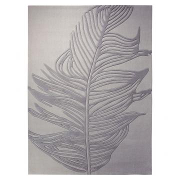 tapis feather gris - esprit home