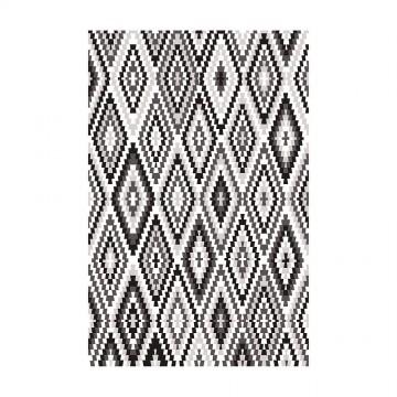 tapis noir et blanc esprit home fresh kelim