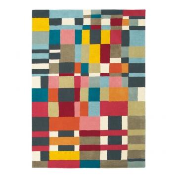 tapis estella domino multicolore brink & campman pure laine
