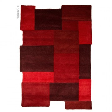 tapis flair rugs collage rouge