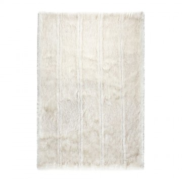 tapis fausse fourrure blanc feel ligne pure