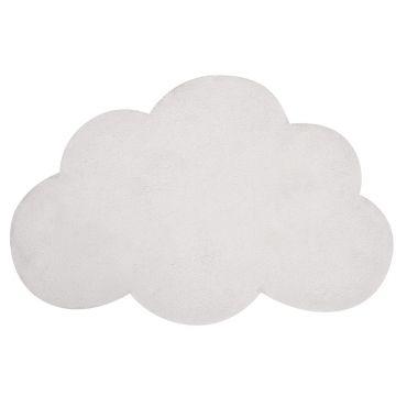 tapis enfant coton nuage blanc lilipinso