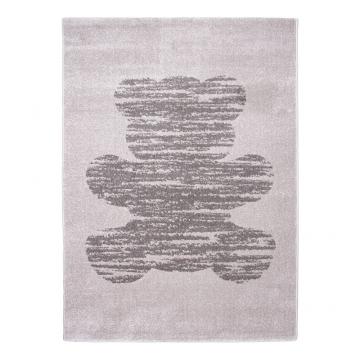 tapis enfant vintage teddy gris nattiot