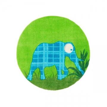 tapis enfant elephant vert