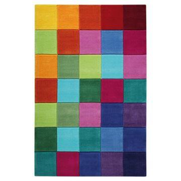 tapis enfant smart kids multicolore tufté main smart square