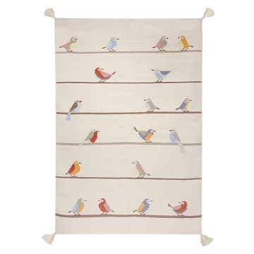 tapis enfant birds art for kids