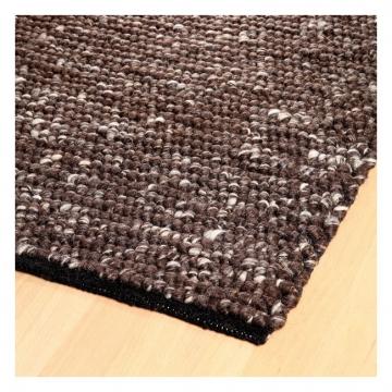 tapis laine tissé main marron spencer home spirit