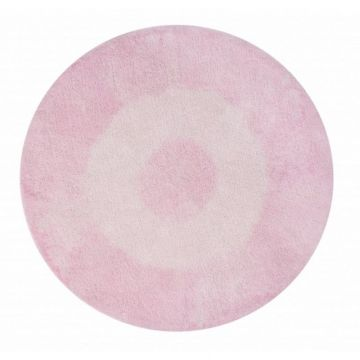 tapis lavable tie-dye rose 150x150 - lorena canals
