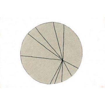 tapis lavable trace beige 160x160 - lorena canals