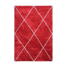 tapis moderne rouge decoway carthage
