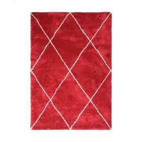 tapis moderne carthage rouge decoway