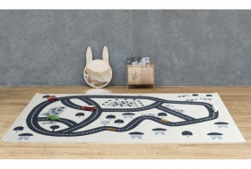 tapis circuit bleu - art for kids