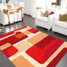 tapis pop art rouge de arte espina