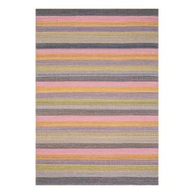 tapis moderne ligne pure laine multicolore flatweave