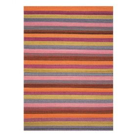 tapis moderne laine rouge flatweave ligne pure
