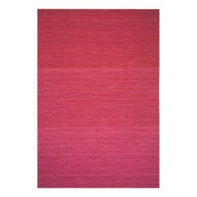 tapis moderne rouge uni laine flatweave ligne pure