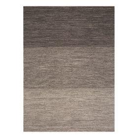tapis moderne marron flatweave ligne pure laine uni