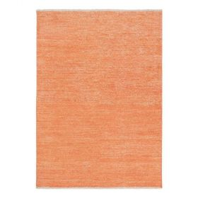tapis moderne ligne pure viscose orange uni