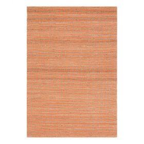 tapis moderne ligne pure coton uni orange flatweave