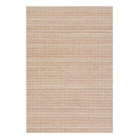 tapis moderne coton uni beige flatweave ligne pure