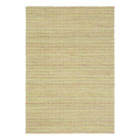 tapis moderne coton uni vert flatweave ligne pure