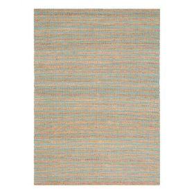 tapis moderne coton uni marron flatweave ligne pure