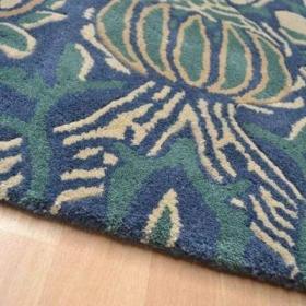 tapis granada handtufted indigo / rouge - avalnico