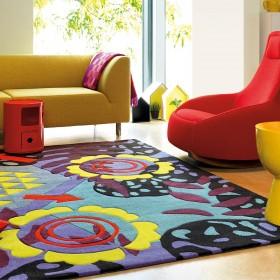 tapis moderne multicolore tobago arte espina