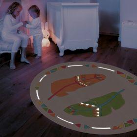 tapis enfant glowy arte espina plume