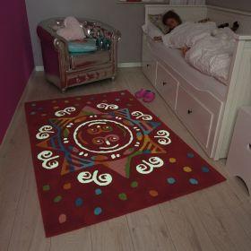 tapis enfant glowy arte espina rouge