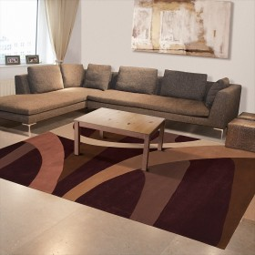 tapis marron arte espina brownies