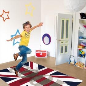 tapis london word up drapeau uk arte espina
