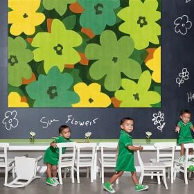 tapis tufté main bloom vert arte espina