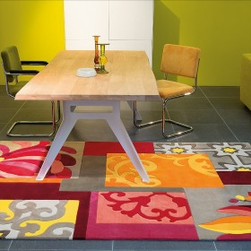 tapis mix match arte espina orange multicolore tufté main