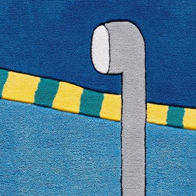 tapis enfant kids bleu arte espina