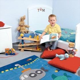 tapis pour enfant arte espina kids bleu