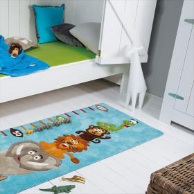 tapis enfant kids toise bleu arte espina