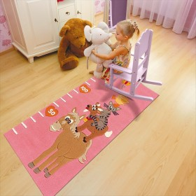tapis enfant kids toise rose arte espina