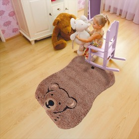 tapis enfant kids ours brun arte espina