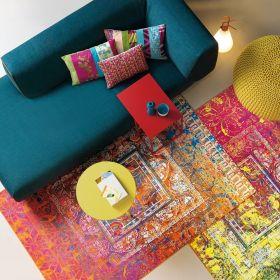 tapis antigua rouge et jaune arte espina