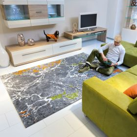 tapis gris moderne marble arte espina