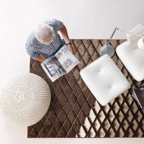 tapis folded marron arte espina