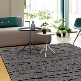 tapis optical art gris et noir arte espina