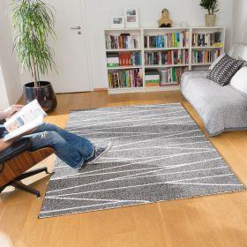 tapis gris et blanc optical art arte espina