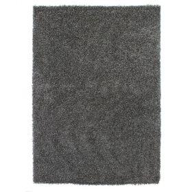tapis shaggy noir 4cm flair rugs