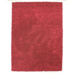 tapis shaggy rouge 4cm flair rugs