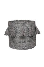 panier de rangement farha gris 30xh30 - nattiot