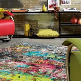 tapis arte espina action art multicolore jaune
